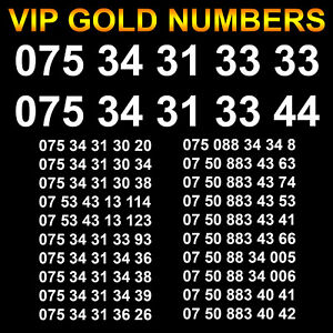Easy Mobile Phone Number VIP Gold SIM Card Platinum Business Diamond Silver EE