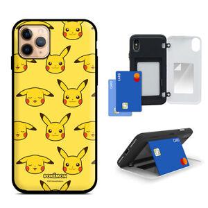 For iPhone 11 / Pro / Max Pokemon Card Door Case Genuine Pikachu Bumper Case