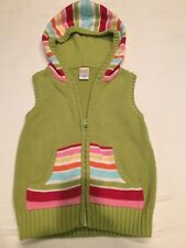 Gymboree Hooded Sweater Vest Girls Small 5/6