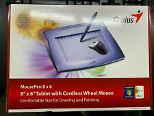 GENIUS Mouse & Pen Tablet 8x6 Graphic Tablet Used in Original Packaging