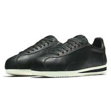 Nike Classic Cortez Premium No Swoosh Leather Black Wax 807480-003 Mens Shoes