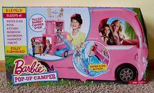NEW IN BOX Barbie Pop-Up Camper Vehicle CJT42 PINK GIRLS TOYS MOBILE CAMPER