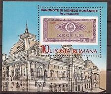 ROMANIA 1987 OLD MONEY 10 LEI BUILDING SC # 3451 MNH