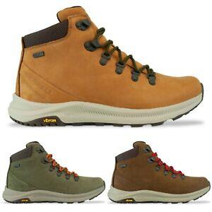 Merrell Boots - Merrell Ontario Mid Waterproof Boot - Olive, Brown, Brown Sugar