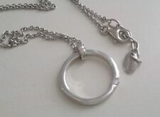 Esprit silver pendant with cubic zirconia and chain.