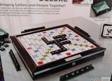 NEW XMAS GAME MATTEL SCRABBLE DELUXE ROTATING BOARD EDITION CHRISTMAS L@@K