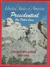 2007-2016 Presidential $1 one Dollar Coin Album Book Folder Holder US Sell