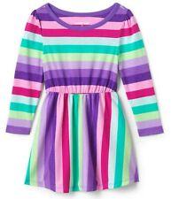 Lands' End Toddler Girl's Cinched Waist Striped Dress-Size 3T