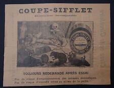 Catalogue 1898 COUPE SIFFLET anti rat souris taupe Skull catalog Katalog