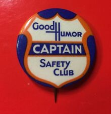 Rare 1930's Good Humor Safety Club Captain Pin