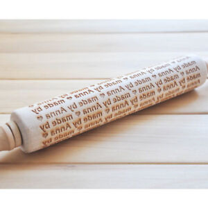 Personalized Pastry Rolling Pin, Custom Name, Engraved Embossing Rolling Pin