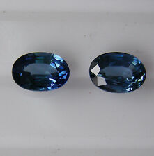 2.32ct!! NATURAL BLUE SAPPHIRE MATCHING PAIR EXPERTLY FACETED IN GERMANY +CERT