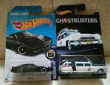 Hot Wheels Lote GHOSTBUSTERS  ECTO-1 CAZAFANTASMAS y KITT EL COCHE FANTÁSTICO