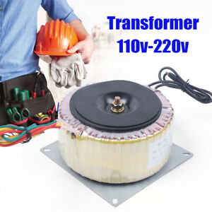 900W Toroidal Transformer Isolation Transformer Frequency 45Hz-60Hz 110~220V USA