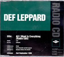 DEF LEPPARD ALL I WANT IS EVERYTHING CD SINGLE PROMO 1996