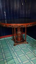 Antique carved wood dining table