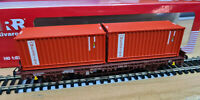 Carro Pianale Kgps delle FS con Container Messina - HO 1:87 Rivarossi HR6463