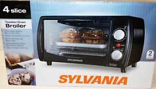 Sylvania Toaster/Oven Broiler 4 Slice 60-MINUTE TIMER-ALERT 9-inch Pizza! NEW!!!
