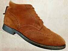 Cole Haan England Ankle Boots Brown Suede Leather Brogue Men's Size UK 9 US 9.5
