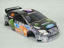 1/10 RC Car BODY Shell FORD FOCUS Rally KEN BLOCK Monster Energy w/ Light Bucket
