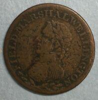 Field Marshal Wellington Canada Canadian Half Penny Token #CG132