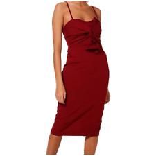 Bow Front Strappy Bodycon Midi party Dress club Ladies Womens Evening Club Wear