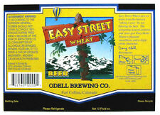 Odell Brewing EASY STREET WHEAT glossy beer label CO 12oz  STREETSIGN-Copr 2000
