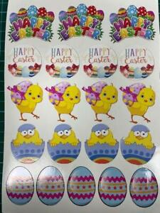 Easter Stickers Vinyl Decal chickens eggs happy easter sign