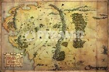 MIDDLE EARTH MAP 24X36 POSTER WALL DECOR ART EDUCATION TEACHING INFORMATION COOL