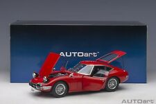 Autoart Toyota 2000 GT Red with metal wire spoke wheels 1/18 Scale New Release!
