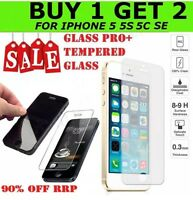 2 x iPhone 5 5S 5C SE TEMPERED GLASS FILM ANTI SHATTER PROOF SCREEN PROTECTOR