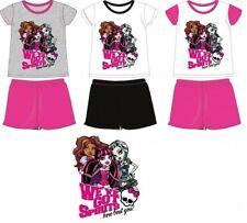 6 ans GRIS/ROSE (model A) 116cm * ensemble Monster High pyjama 2 pieces * NEUF