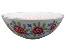 Kate Williams Cottage Rose Serving Bowl Granny Chic Sweet Nellie Designs Italy