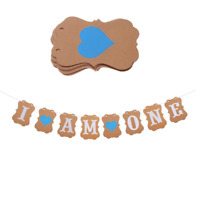 BOY I AM ONE HEART BUNTING BIRTHDAY PARTY BANNER PARTY DECORATION GARLAND UK
