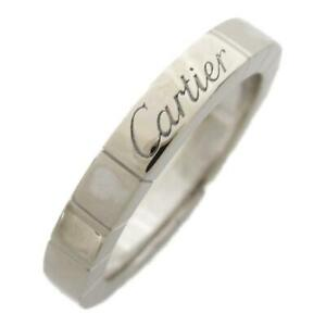 Cartier Lanieres ring bague anello #7 #47 18K 750 White Gold Used