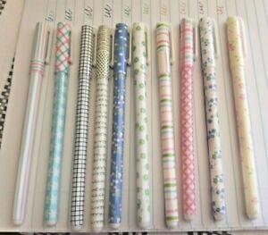 Colour Pens Gel, Caneta style, 10 different colour,  Kawaii Korean Stationery ,