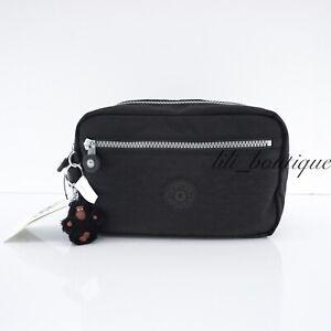 NWT New Kipling AC8297 Amalfi Travel Toiletry Bag Cosmetic Case Polyamide Black