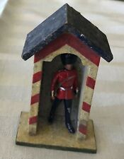 Antique Vtg Early Erzgebirge Royal Guard House Soldier Putz Christmas Village