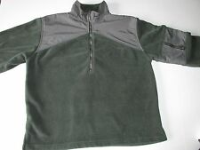 Woolrich Juniper Polyester Ripstop Nylon 1/2 Zip Neck Fleece Jacket  Men's L T3