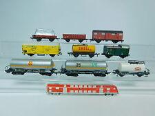 Au787-2# 9x Fleischmann h0/dc hobbisti-carro merci DB: Shell + Texaco + Holsten etc