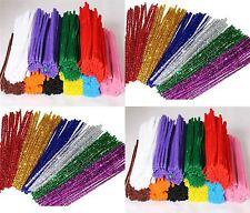 "KRAFTZ® 100 Pc 6mm 12""/30CM Chenille Pipe Cleaners Craft Stems DIY Art & Craft"