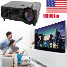 6000 Lumens Full HD 1080P LED LCD 3D VGA HDMI TV Home Theater Projector Cinema K