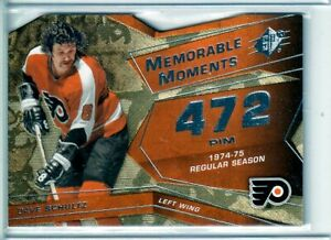 2008-09 SPx Memorable Moments #MMDS Dave Schultz - Philadelphia Flyers