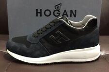 HOGAN uomo Sneakers N20 camoscio e tela Blu/nero SCONTO 50%