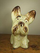 Vintage SylvaC matte yellow terrier big headed dog ceramic scottie rare 1117