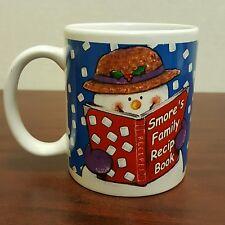 Smore's Family Recipe Book Happy Snowman Coffee Mug Raining Marshmallows