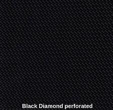 "Vinyl  perforated Leather Marine Faux Waterproof black diamond 54"" Fabric sold"