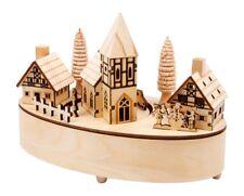Carillon in legno Piccolo villaggio con luci a LED,  per Natale