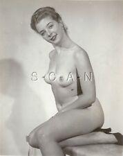 Original Vintage 1940s-60s Desnudo Rp- Reducida Pelo Woman- Bronceado Lines-