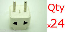 US USA American To European EU 24pc Plug Adapter Universal For Europe Asia 24-PK